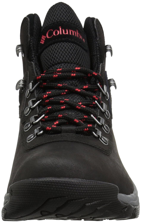 Columbia Women's Newton Ridge Plus Wide Hiking Shoe B0788HH536 7 W US Black, Poppy Red