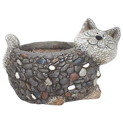 Red Carpet Studios Planter Cat Stone Effect: Kitchen & Dining