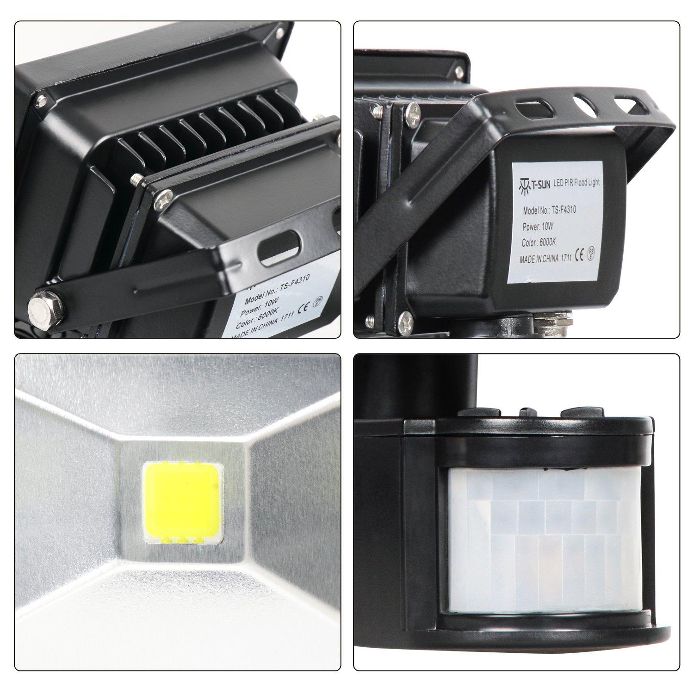 10w Security Light With Motion Sensor Lightsguo Super Bright Led Pir Flood Lightshigh