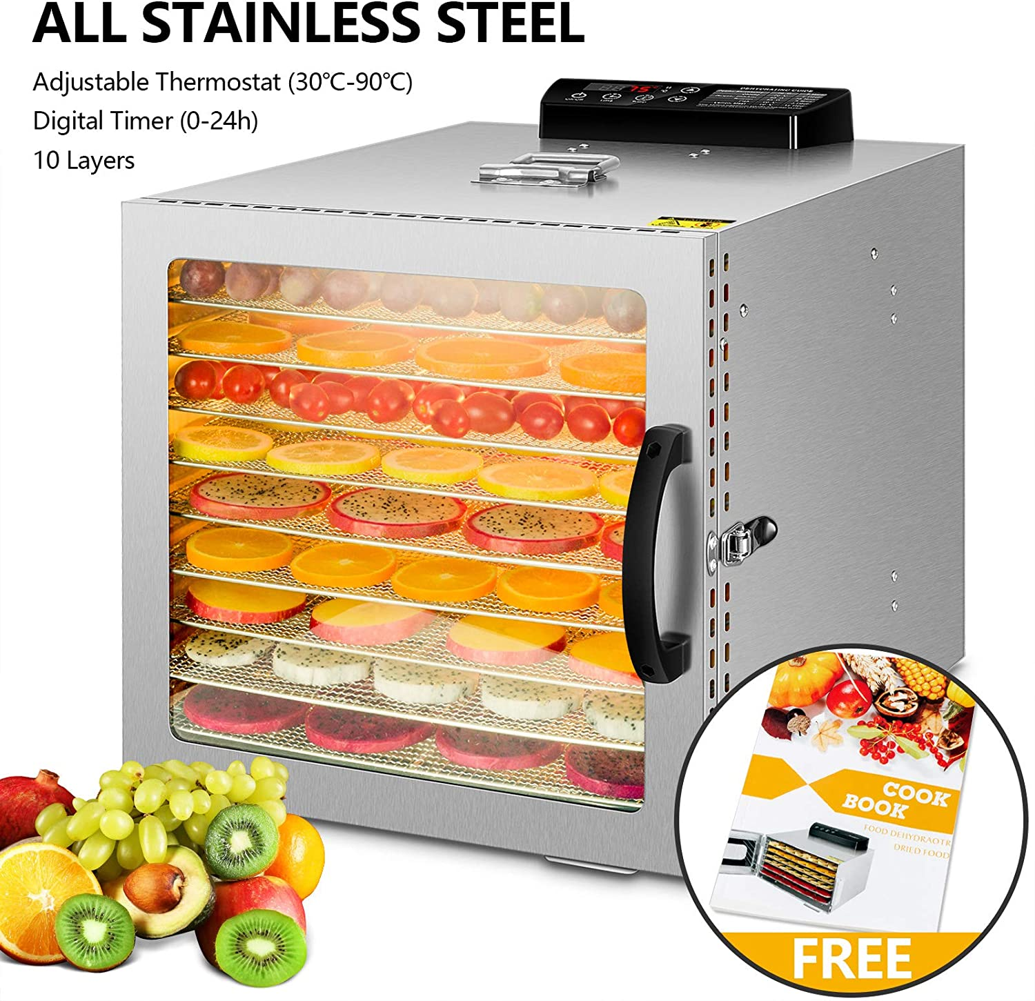 stainless-steel-commercial-food-dehydrator