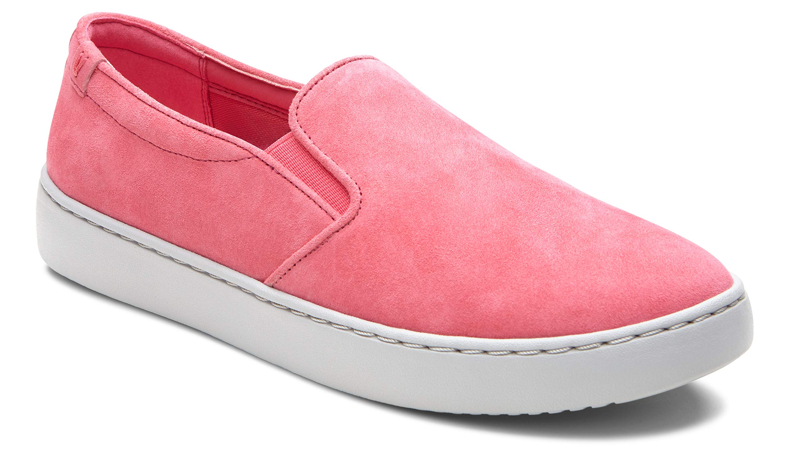 Vioinc Women's Pro Mahoney Avery Slip-on - Ladies Water Resistant Slip Resistant Service Shoes with Concealed Orthotic Arch Support Sorbet 9.5 M US