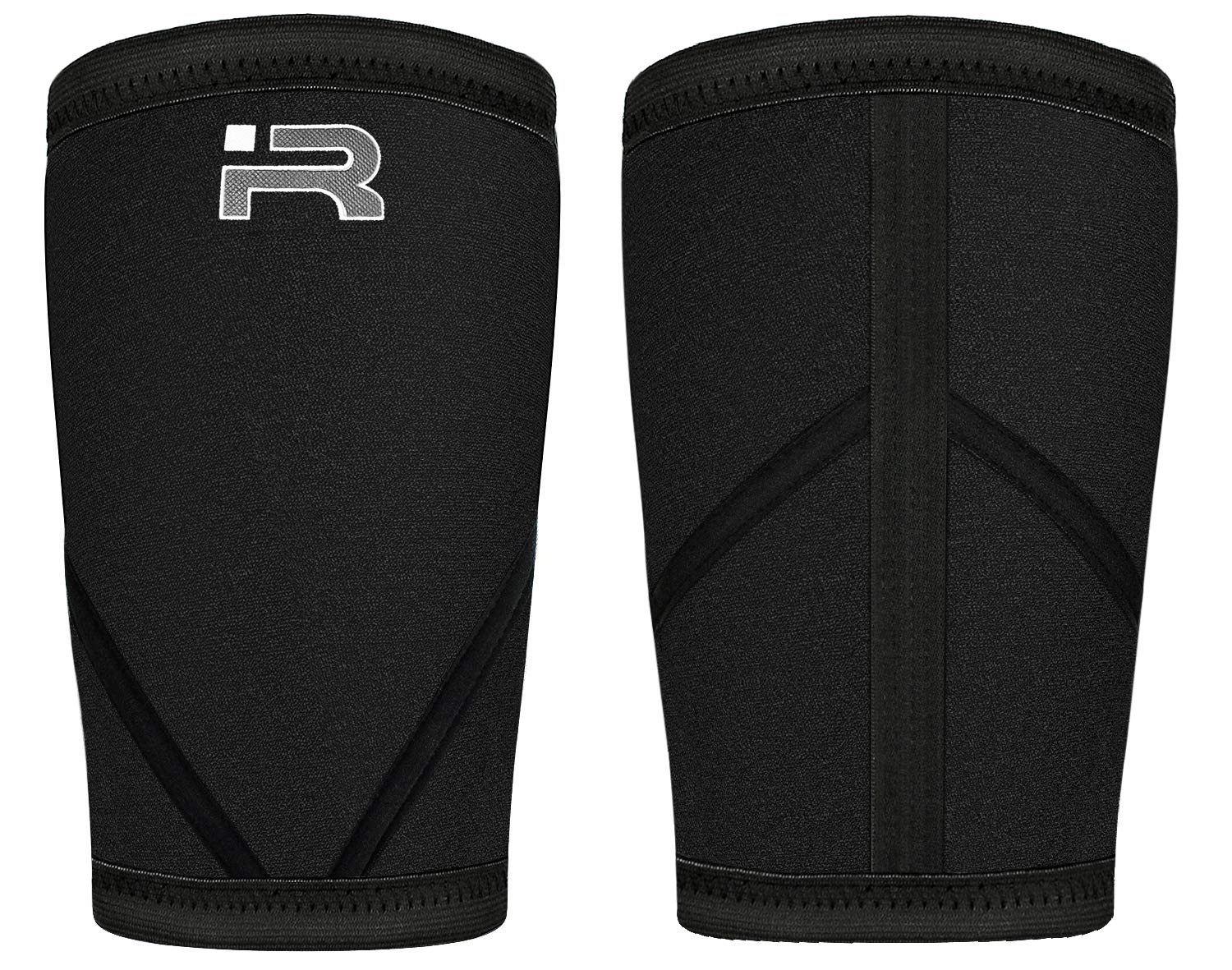 Iron Rebel Knee Sleeves XS - 4XL Black Performance Compression Sleeves for Powerlifting, Bodybuilding, and Weight Training | 7mm Neoprene, Double-Stitch Binding Design