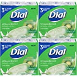 Dial Vitamin Boost Amazing B Lotion Infused Glycerin Bar Soap, 3 Count, 4 Ounce (Pack of 4) Total 12 Bars