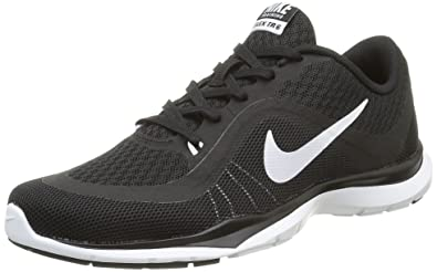 Nike Womens Wmns Flex Trainer 6, BLACK/WHITE, 5 US