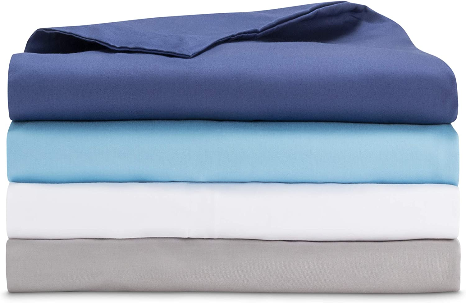 Designed in USA Child Size 100/% Organic Oeko-Tex Cooling Cotton LUNA Removable Duvet Cover for Kids Weighted Blanket Machine Washable /& 8 Ties for Secure Fastening 36x48 Blue Space