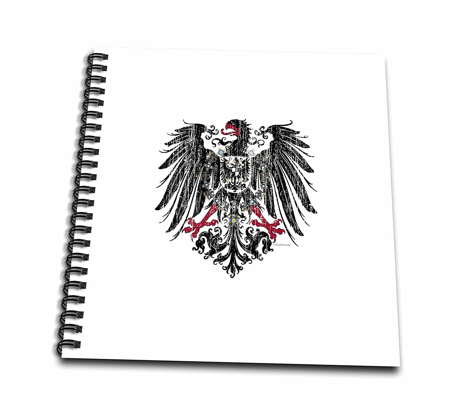 8 by 8-Inch 3dRose db/_15934/_1 Kaiser Eagle-Drawing Book