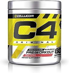 C4 Original Pre Workout Powder Fruit Punch - Vitamin C for Immune Support - Sugar Free Preworkout Energy for Men & Women - 15