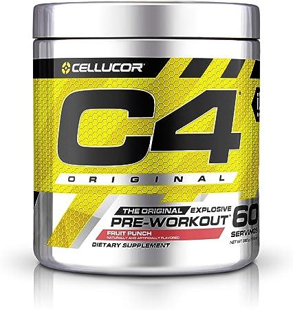 C4 Original Pre Workout Powder Fruit Punch Sugar Free Preworkout Energy Supplement for Men & Women 150mg Caffeine + Beta Alanine + Creatine 60 Servings