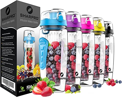Sharpro 32 OZ Fruit Infuser Water Bottle