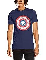 CID Men's Civil War-Captain America Shield Distressed T-Shirt