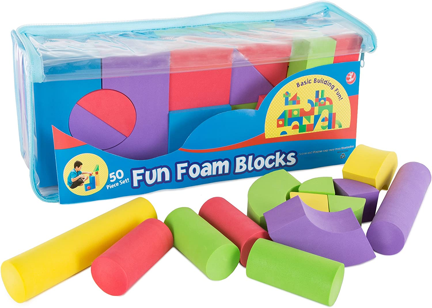 Kids Foam Building Blocks Stacking Toys Children Nontoxic EVA Shapes Create Play