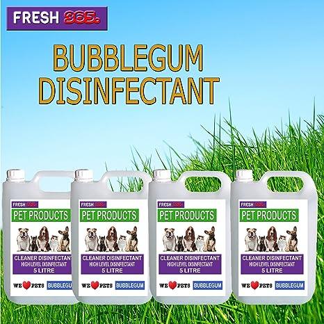1 x 5 L – * Bubble Gum fragancia * Pet/desinfectante de caseta y