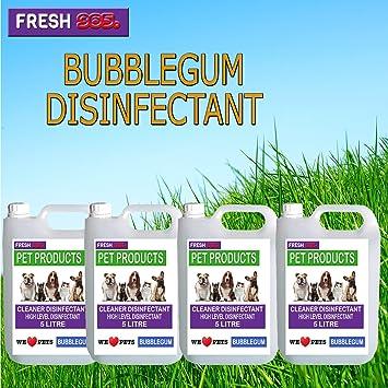1 x 5 L - * Bubble Gum fragancia * Pet/desinfectante de caseta y Deodoriser * incluye Post *: Amazon.es: Productos para mascotas