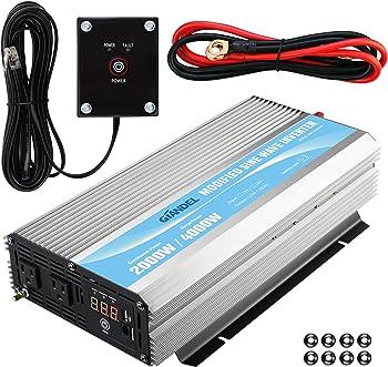 Giandel 2000-watt Power Inverter with Remote Control