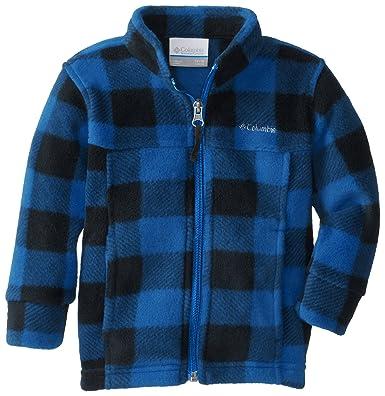 b5270407add35 Columbia Baby-Boys Newborn Zing II Fleece, Hyper Blue Lumberjack, 0/3