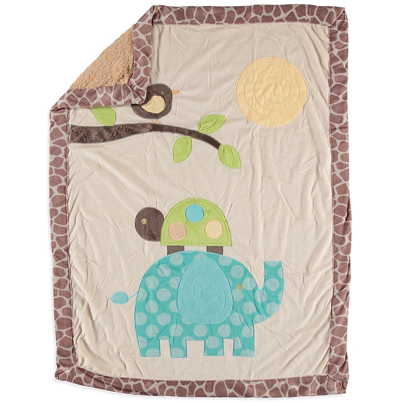 Little Beginnings Unisex Baby Elephant Minky Sherpa Blanket by Little Beginnings   B00VU48VZQ