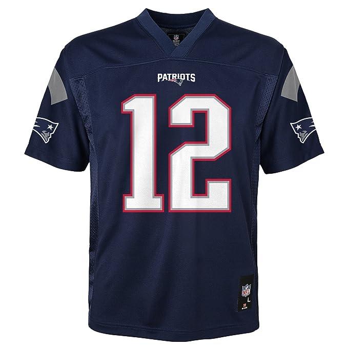 9fc51e16 NFL Youth Boys 8-20 Tom Brady New England Patriots Boys -Player Name  Jersey, Dark Navy, S(8)