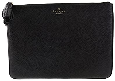 af09901c99 Kate Spade New York Chester Street Gia Pebbled Leather Clutch Handbag Purse  (Black)