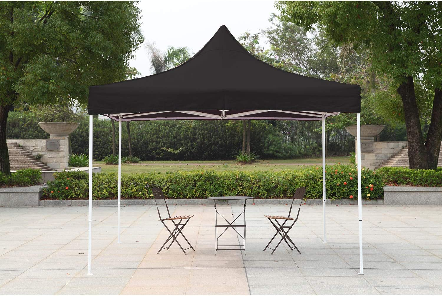 American Phoenix Pop Up Canopy Tent 10×10 Portable Instant Commercial Outdoor Beach Heavy Duty Market Shelter Black