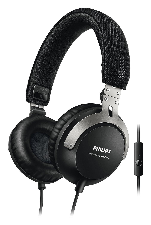 Nero Philips SHL3565BK//00/Cuffia con microfono driver al Neodimio da 40 mm, comando universale Inline per chiamata /& gestione comandi