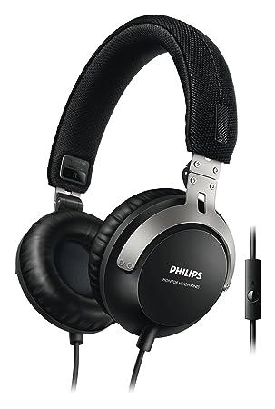 6c0e3c8f9da Phillips SHL3565BK/00 DJ- Monitoring Headphones with Microphone (40 mm  Neodymium Drivers,