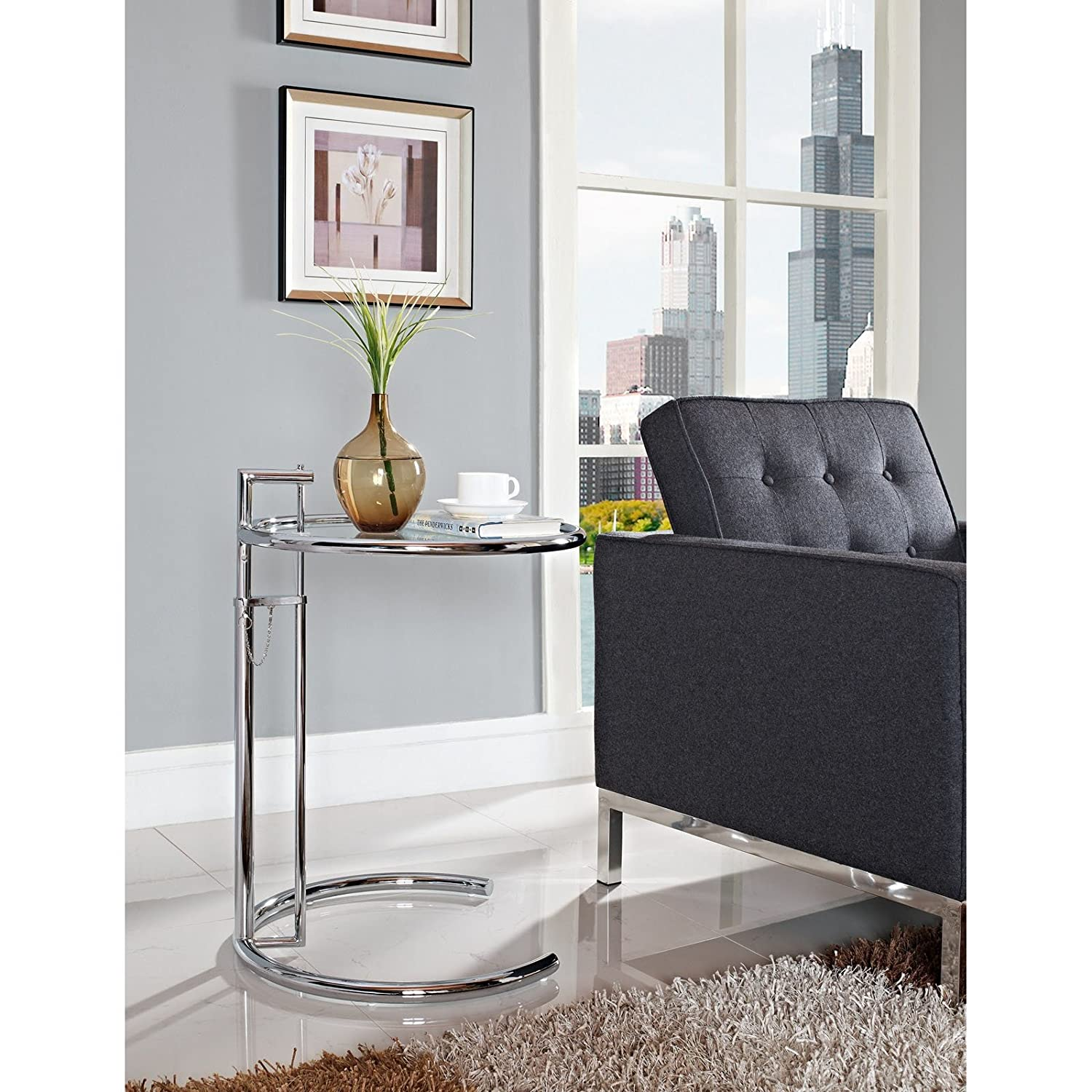 Amazon Modway Eileen Gray Side Table Kitchen & Dining