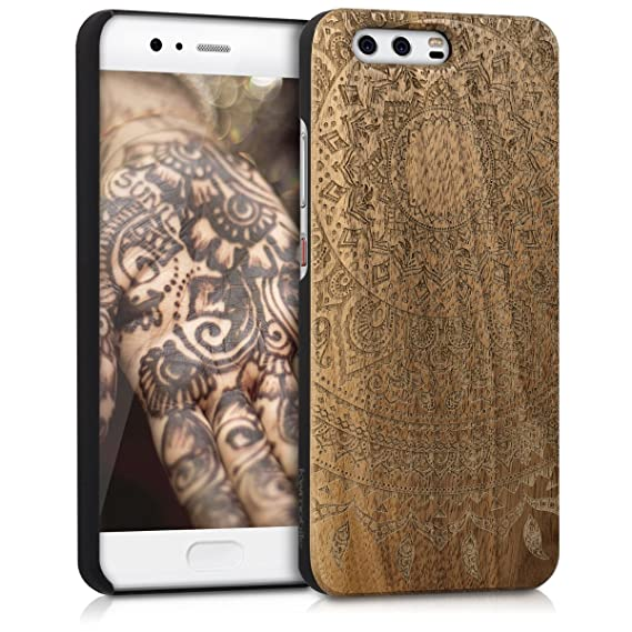 Amazon.com: kwmobile Huawei P10 Wood Case - Non-Slip Natural ...