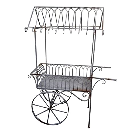 Superior Decorative Hand Painted Metal Garden Cart