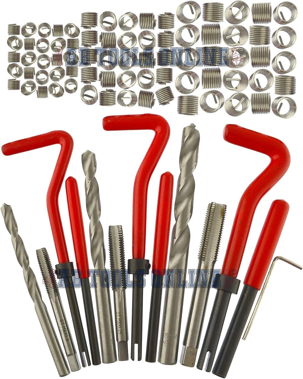 Installazione di Thread e kit di riparazione helicoil impostare 88pc dimensioni metriche M6M10 Un047