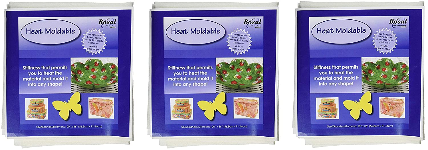 Bosal Heat Moldable Stabilizer Craft Supplies 20 by 36-Inch