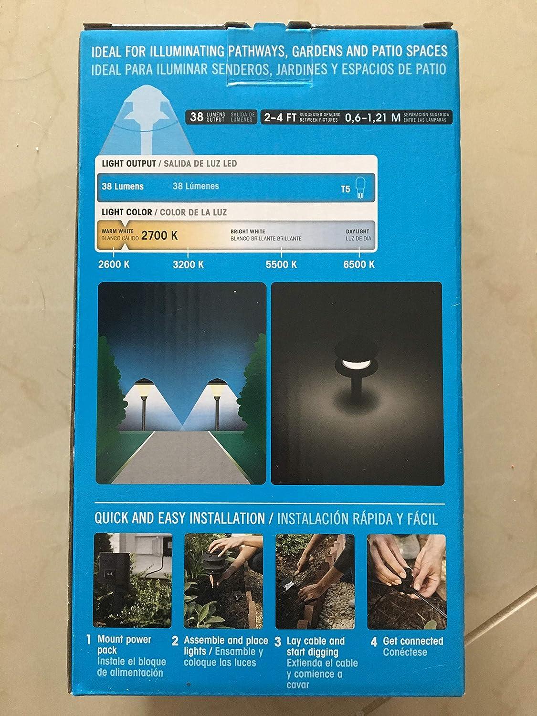 Portfolio Landscape Low Voltage Path Light 4W Black