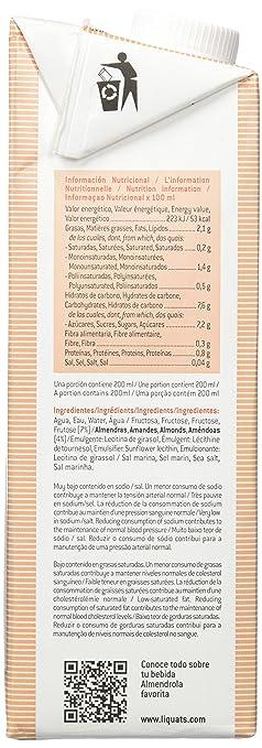 Almendrola Bebida Vegetal de Almendra Fructosa - Paquete de 6 x 1000 ml - Total: 6000 ml: Amazon.es: Alimentación y bebidas