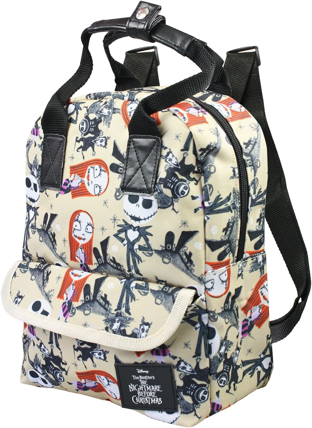 "Disney NIGHTMARE BEFORE CHRISTMAS Jack /& Sally Skellington 16/"" School Backpack"