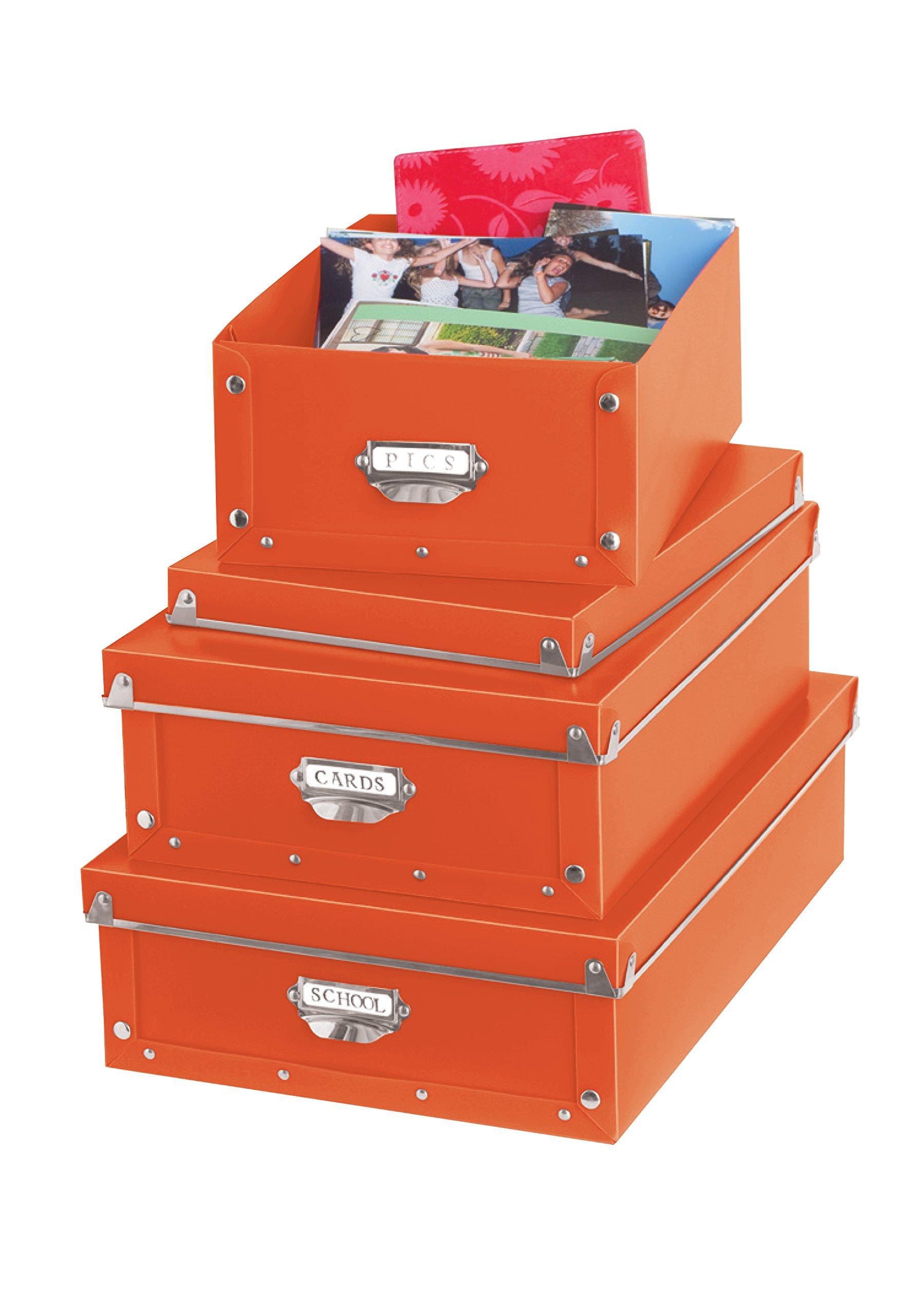 Urban Shop Collapsible Snap Storage, Orange