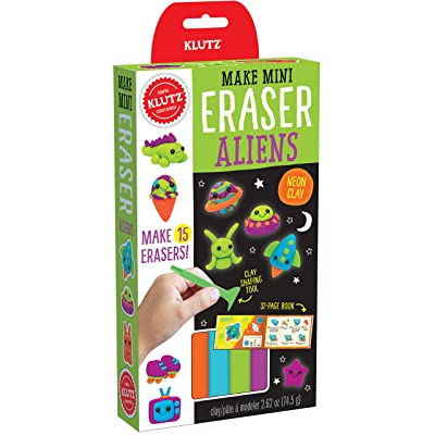 Klutz Make Mini Eraser Aliens Craft Kit: Toys & Games
