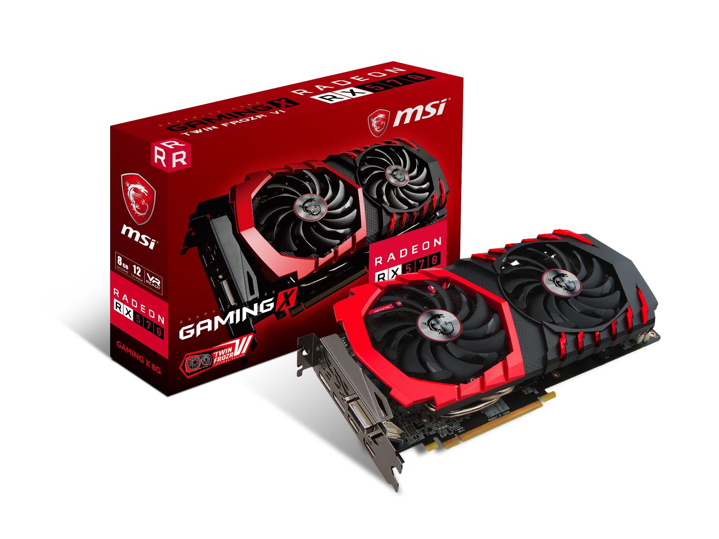 MSI GAMING Radeon RX 570 8GB GDDR5 256-Bit DirectX 12 Graphics Card (RX 570 GAMING X 8G)