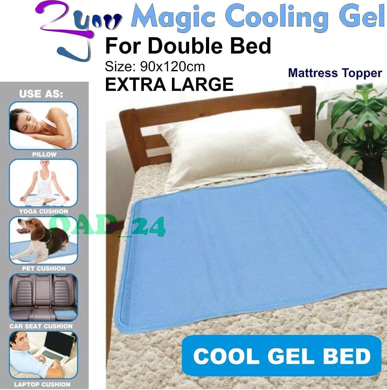 Grande coprimaterasso in gel refrigerante per materasso ortopedico doppio o per animali domestici, colore: blu Prezzi offerte