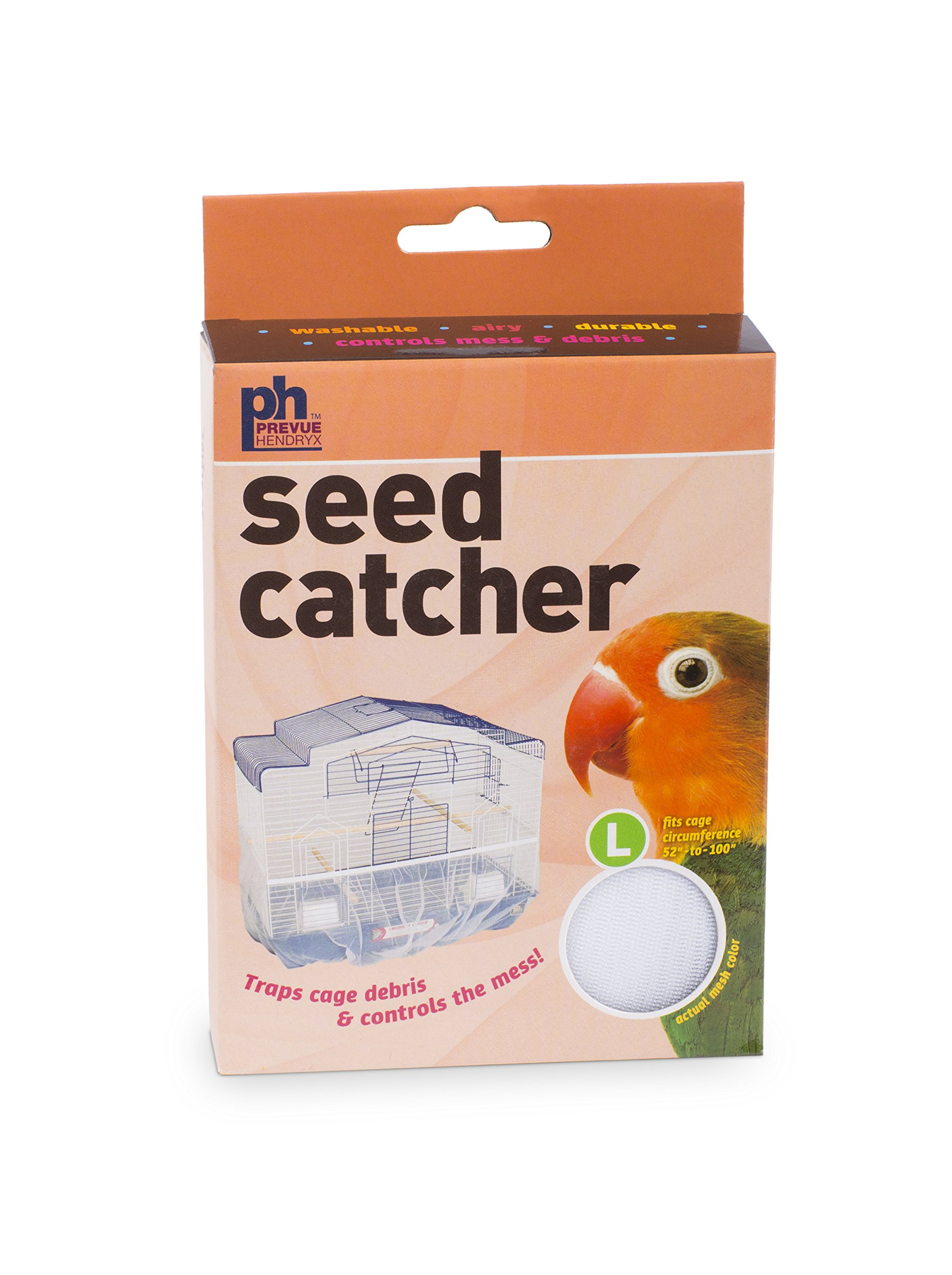Prevue Pet Products 822W Mesh Bird Seed Catcher, White, Large/13 by Prevue Pet Products