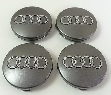 CAR PARTS Tapacubos 4X con Logo para Audi, diámetro Desde 60mm, reemplazo para Clavos Ruedas de aleación: Amazon.es: Coche y moto