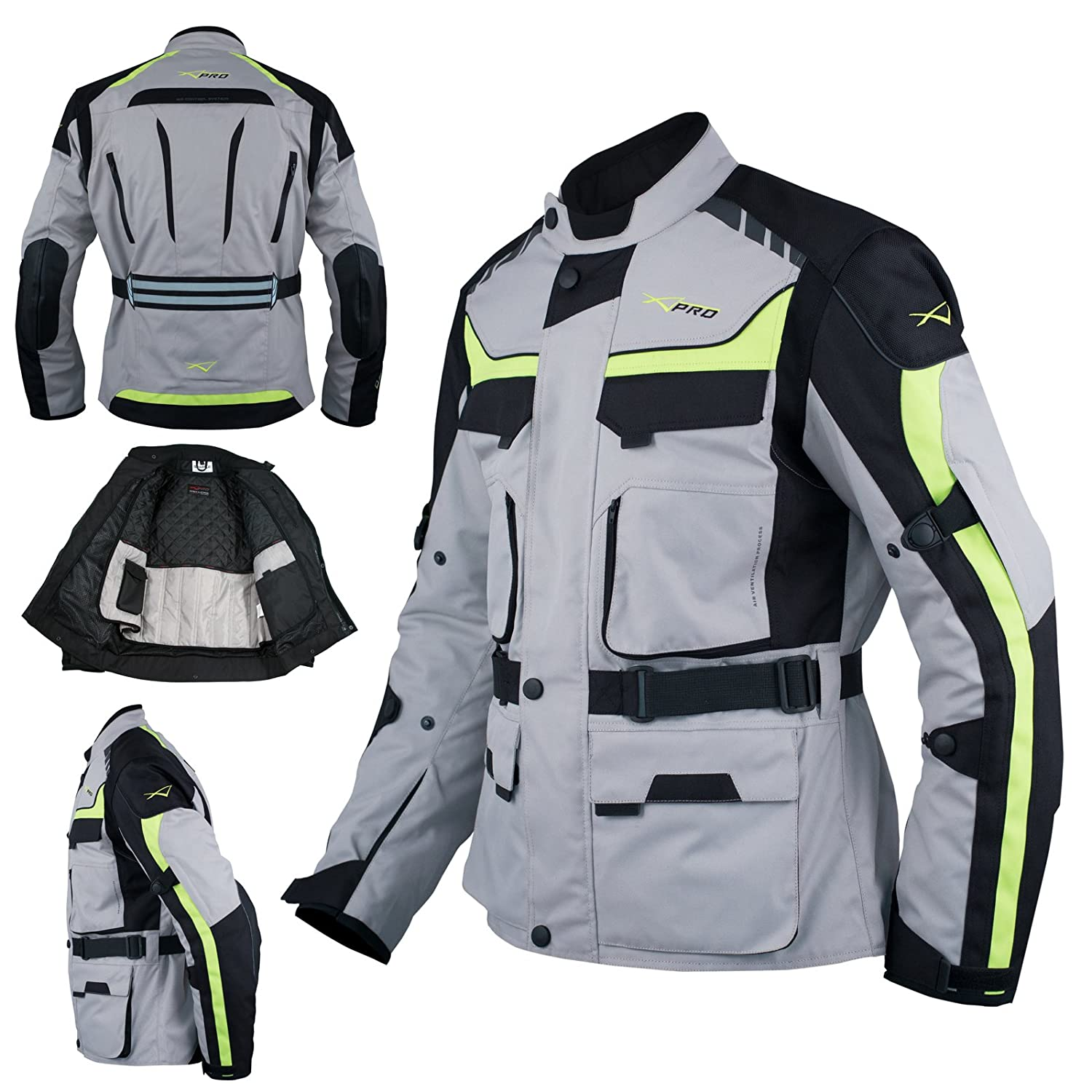 A-Pro Giacca Moto Scooter Tessile Gilet termico impermeabile Touring Nero L 5180000076788