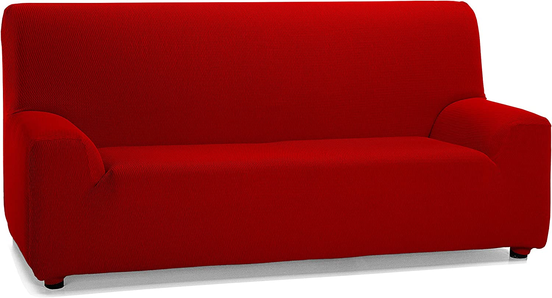 Martina Home Tunez - Funda elástica para sofá, Rojo, 3 Plazas (180-240 cm)