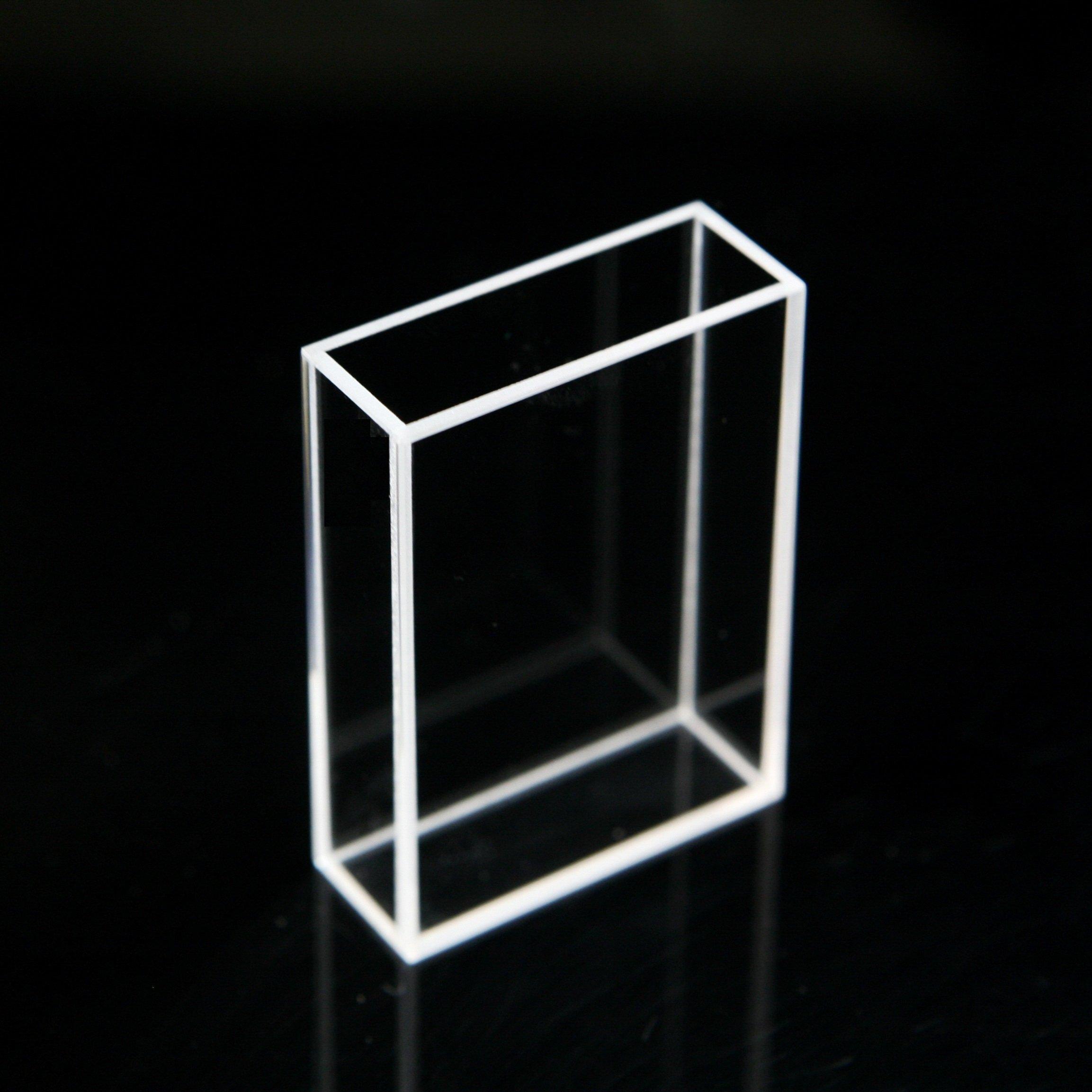 Fluorescence Glass Cuvette, 1cm 5cm 10mm, 50mm Large Cell Cuvettes Spectrometer