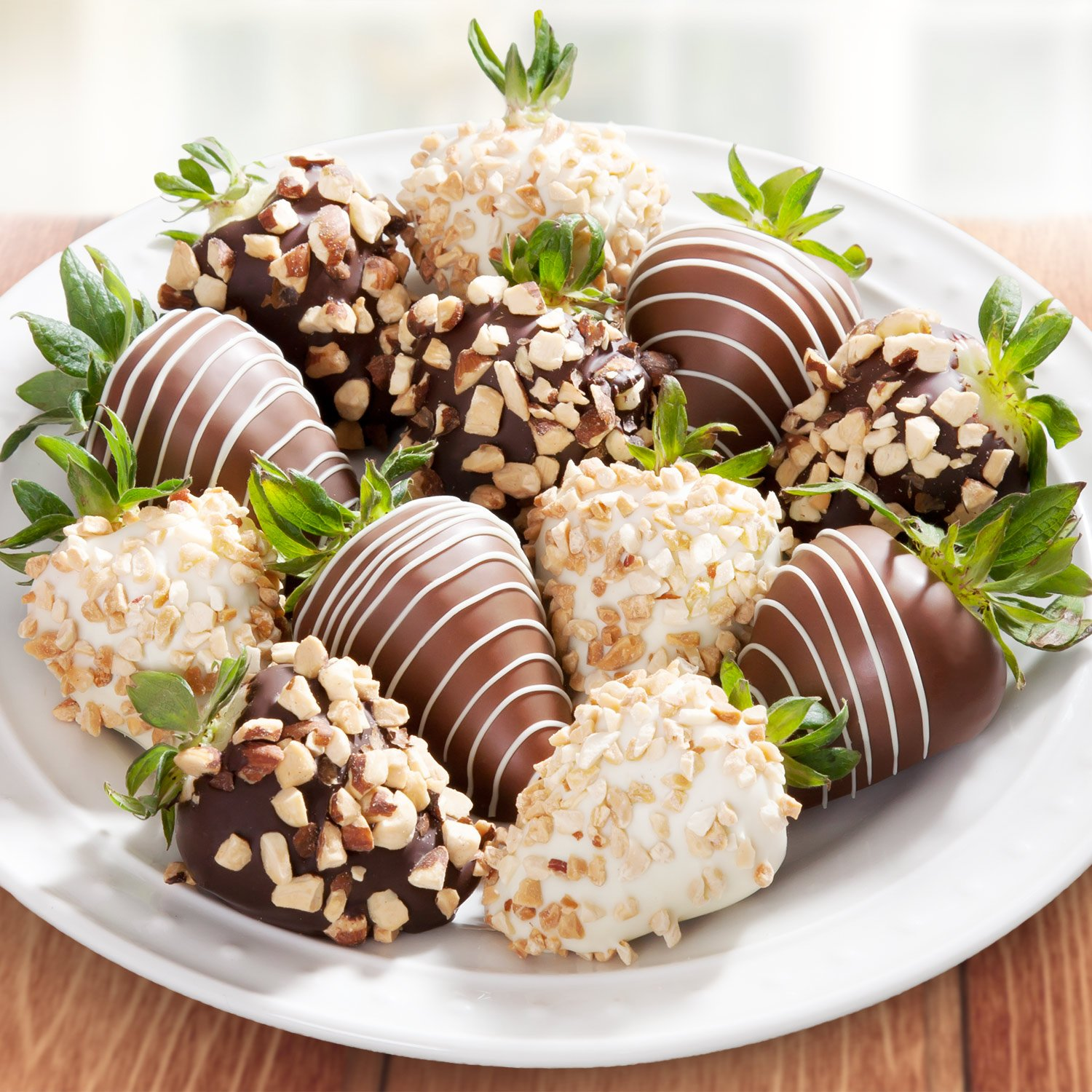 Amazon.com : 12 Nuts About Chocolate Covered Strawberries ...