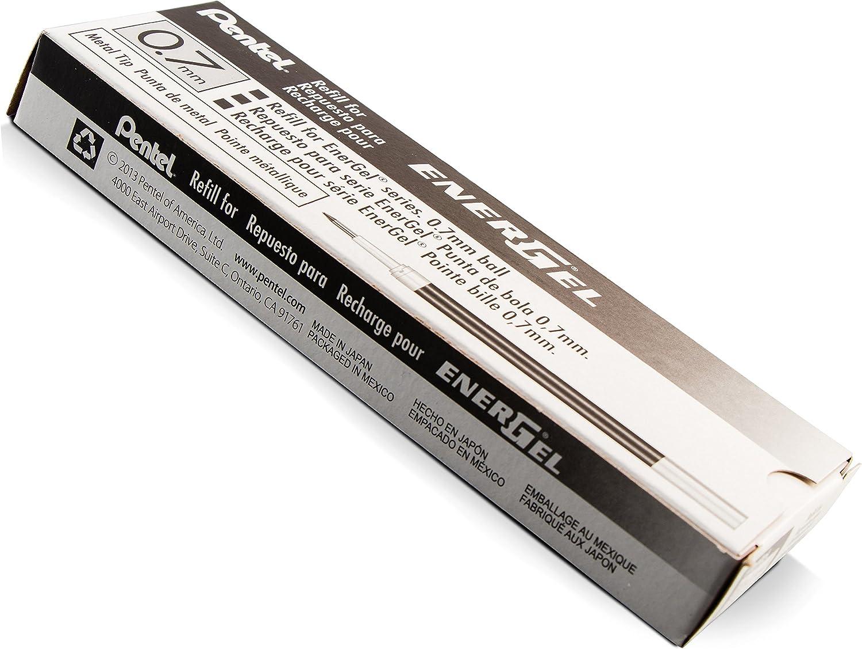schwarz 0,35 mm BL77 Ersatzmine LR7-A für Pentel EnerGel Serie für BL57