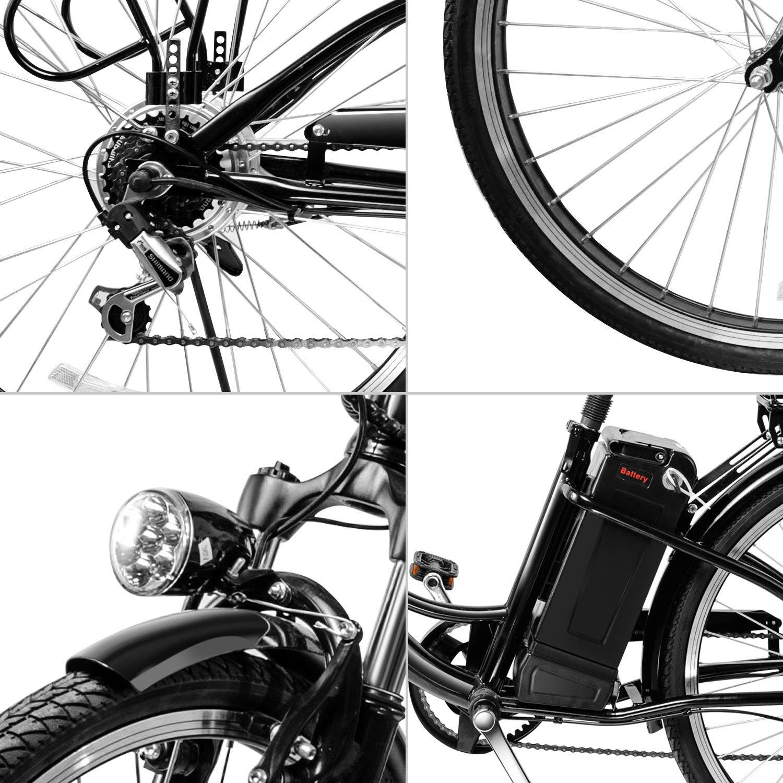 VEEKO 26'' City Electric Bicycle Ebike with 36V 10Ah Lithium Battery by VEEKO (Image #6)