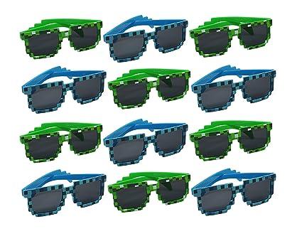 Amazon.com: Moda pixelado anteojos de sol – paquete de 12 ...
