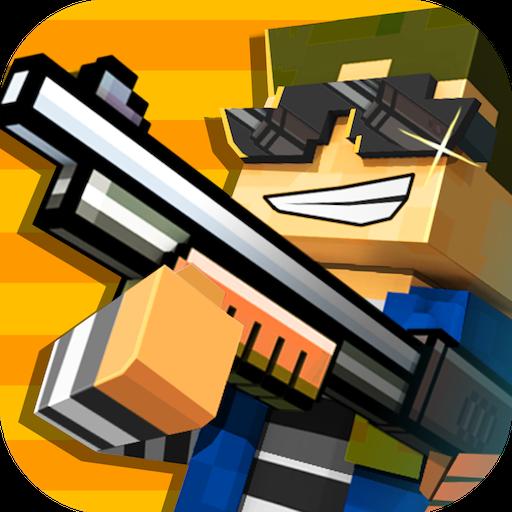 Cops N Robbers (FPS) - Mine Mini Game With Survival Multiplayer Free (Pixel Gun 3d Best Skins)