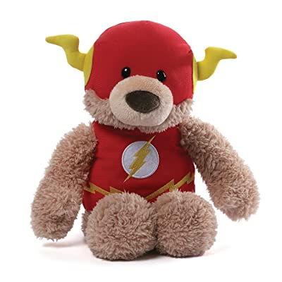 "GUND DC Comics Flash Blaze Teddy Bear Stuffed Animal Plush, Red, 12"": Toys & Games"