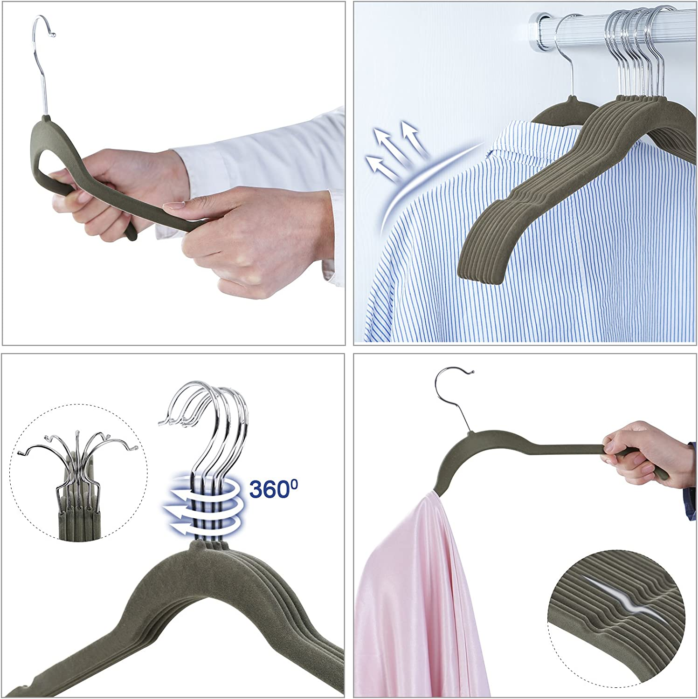 Dallear Perchas Pinzas de Metal con Met/álico Ajustable Antideslizante Clips para Colgar Calcetines de Pantalones Faldas 10 Piezas