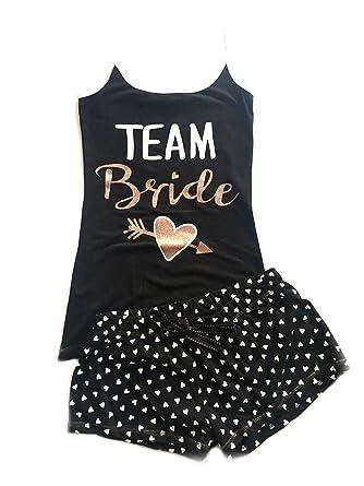 545c8384a3d63 Ladies Girls Team Bride Cami PJ Set Pyjama Shorts   Vest Top (UK XL ...